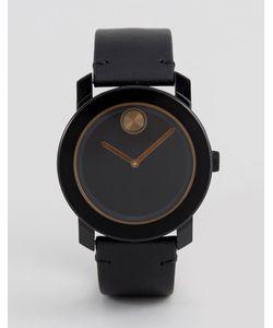 Movado | Черные Часы С Кожаным Ремешком Bold 3600297