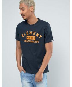 Element | Темно-Синяя Футболка С Логотипом