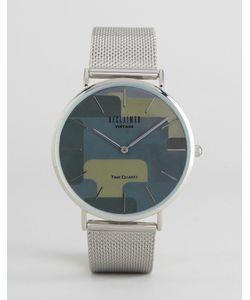Reclaimed Vintage | Часы С Сетчатым Ремешком И Серебристым Корпусом