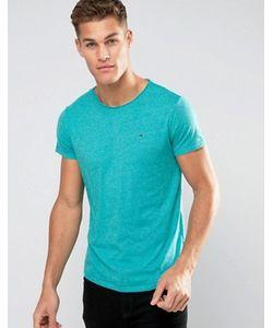 Hilfiger Denim | Tommy Flag Logo T-Shirt In Marl
