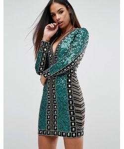 Starlet   Платье Мини С Отделкой Пайетками