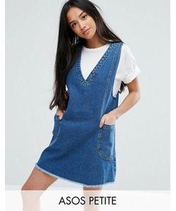ASOS PETITE | Джинсовое Платье Мини Винтажного Синего Цвета Chuck On