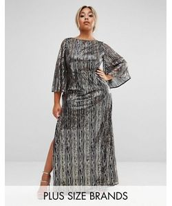 Lovedrobe Luxe | Платье Макси С Рукавами-Кимоно И Отделкой