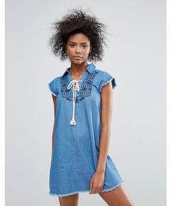 Urban Bliss | Джинсовое Платье С Вышивкой Taylor
