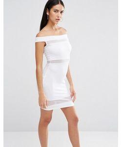 MISSGUIDED | Облегающее Платье С Открытыми Плечами