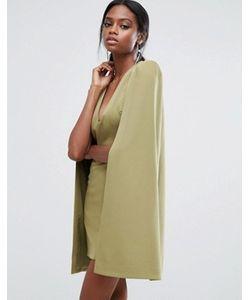 Lavish Alice | Платье Мини С Кейпом И Разрезом Сзади