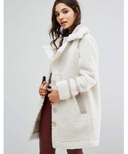 URBANCODE | Пальто Из Искусственной Замши С Отделкой Борг