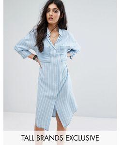 Noisy May Tall | Длинное Платье-Рубашка В Стиле Oversize В Полоску С Карманами Noisy May