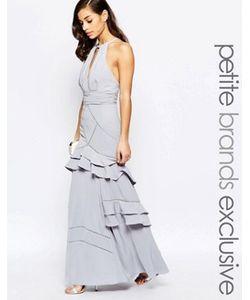 Jarlo Petite | Платье Макси С Многослойными Оборками