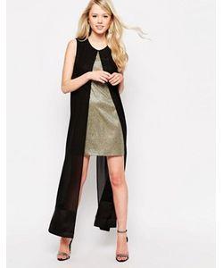 Jovonna | Платье С Отделкой Блестками И Шифоновой Накладкой What For