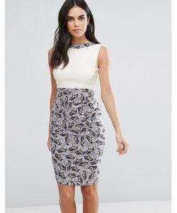 Vesper | Платье-Футляр Два-В-Одном С Бабочками