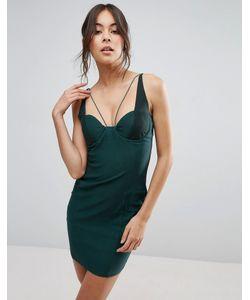 Rare | Платье Мини С Сетчатыми Вставками