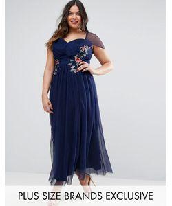 Little Mistress Plus | Платье Макси С Цветочной Вышивкой