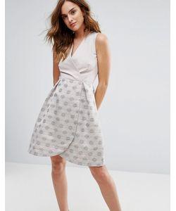 Closet London | Платье Для Выпускного 2 В 1 Из Жаккарда В Горошек Closet