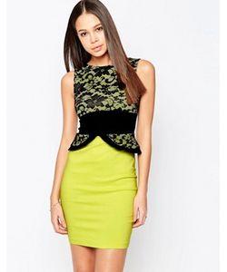 Vesper | Платье-Футляр С Кружевным Топом И Баской Ronnie