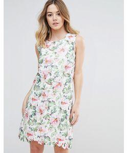 Uttam Boutique | Кружевное Платье С Цветочным Принтом