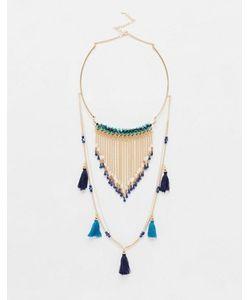 Ashiana | Ожерелье В Два Ряда С Кисточками