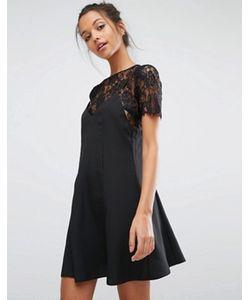 Miss Selfridge | Кружевное Платье 2 В 1 С Бретельками