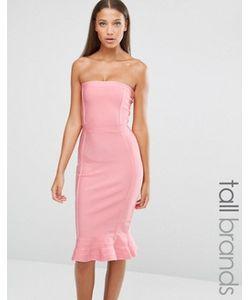 Missguided Tall | Премиальное Бандажное Платье С Оборкой По Краю Exclusive