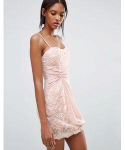 Jasmine | Платье С Цветочной Отделкой И Сборкой Сбоку
