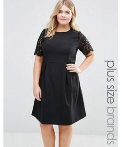 Koko | Платье С Кружевными Рукавами Plus