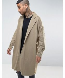 Asos | Супердлинное Легкое Трикотажное Пальто