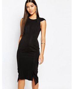 AQ AQ | Платье Миди С Глубоким V-Образным Вырезом Сзади Aq/Aq Hoven