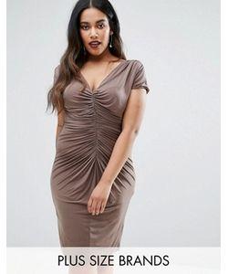 Goddiva plus | Платье С Драпировкой
