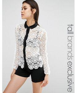 True Decadence Tall | Кружевная Рубашка С Контрастной Отделкой