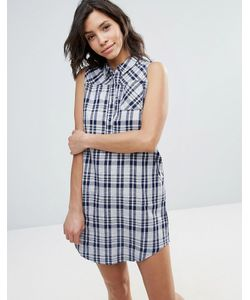 Qed London | Check Print Shirt Dress