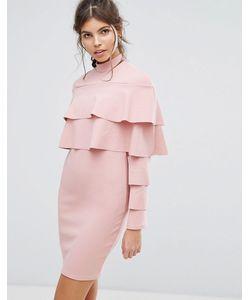 Club L | Облегающее Платье С Оборками