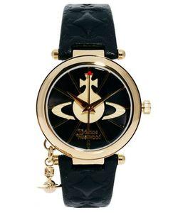 Vivienne Westwood | Часы С Кожаным Ремешком И Подвеской-Орбитой Vv006bkgd