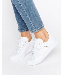 Adidas | Белые Кожаные Кроссовки Originals All Gazelle