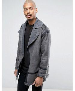 Asos | Байкерская Куртка Из Искусственной Овчины