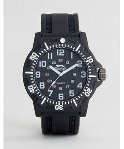Slazenger   Черные Часы С Белыми Указателями Времени
