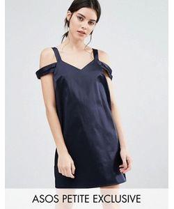 ASOS PETITE | Атласное Цельнокройное Платье С Двойными Бретельками