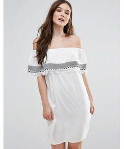First & I | Платье С Открытыми Плечами И Вышивкой