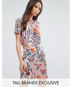 Glamorous Tall | Цельнокройное Платье С Принтом