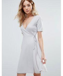 Daisy Street | Короткое Приталенное Платье С Запахом Спереди