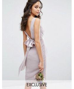 TFNC | Платье Миди С Запахом И Бантом Сзади Wedding