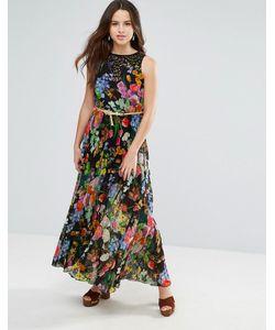 Louche | Платье Макси С Цветочным Принтом