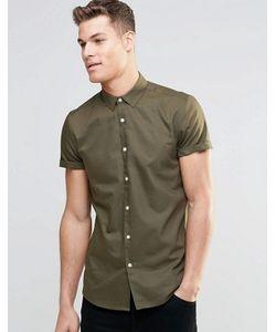 Asos   Классическая Оксфордская Рубашка С Короткими Рукавами