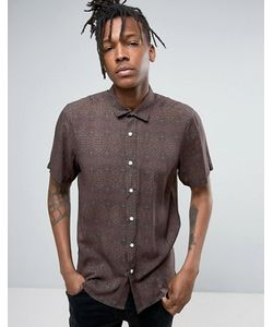 Asos | Рубашка Классического Кроя С Принтом В Винтажном Стиле