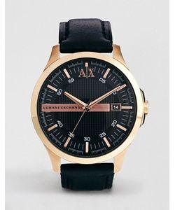 ARMANI EXCHANGE   Часы С Черным Кожаным Ремешком Ax2129