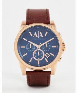 ARMANI EXCHANGE   Часы С Хронографом И Кожаным Ремешком Ax2508