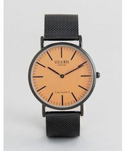 Reclaimed Vintage | Часы С Оранжевым Циферблатом И Черным Сетчатым Ремешком
