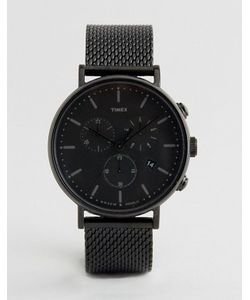 Timex | Черные Часы 41 Мм С Хронографом Fairfield