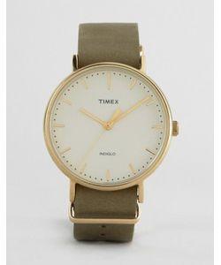 Timex | Часы С Зеленым Кожаным Ремешком 41 Мм Weekender Fairfield