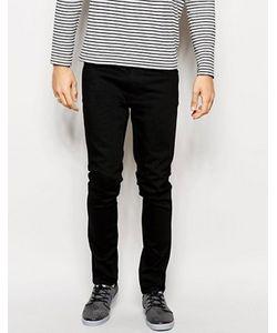 Nudie Jeans Co | Черные Суженные Книзу Джинсы Слим Nudie Jeans Lean Dean
