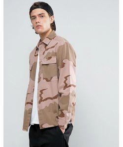 Asos | Камуфляжная Рубашка Навыпуск